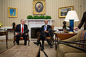 "United States President Barack Obama, right, meets with Prime Minister Benjamin Netanyahu of Israel in the Oval Office of the White House in Washington, D.C., U.S., on Monday, March 3, 2014. Obama urged Netanyahu to ""seize the moment"" to make peace, saying time is running out to negotiate an Israeli-Palestinian agreement.<br /> Credit: Andrew Harrer / Pool via CNP"
