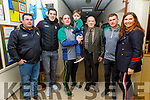 David Moran standing with the Quinlan famil from BAllyduff at the Ballyduff Juvenile GAA medal presentation in Ballyduff on Thursday.<br /> L to r: William Quinlan, David Moran, John, Jack, Mike Joe and PAtrick Quinlan and Majella Duignan.