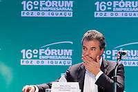 FOZ DO IGUA&Ccedil;U, PR, 21.04.2017 &ndash; LIDE - 16&ordm; F&oacute;rum Empresarial Foz do Igua&ccedil;u<br />  &ndash;   O governador do Paran&aacute;, Beto Richa (PSDB-PR), durante o 16&ordm; F&oacute;rum Empresarial Foz do Igua&ccedil;u, na manh&atilde; desta sexta-feira (21).(Foto: Paulo Lisboa/Brazil Photo Press)