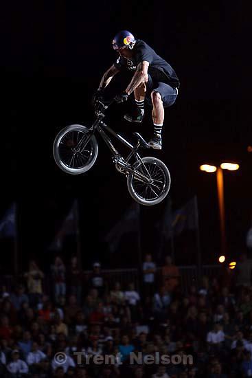 Salt Lake City - Corey Bohan, 2nd place, BMX Dirt, AST Dew Tour, Friday September 12, 2008.