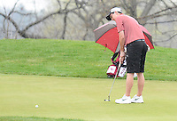 Middleton's Josh Haunty putts on the 1st hole during the Morgan Stanley Shootout on Thursday, May 8, 2014, at University Ridge Golf Course in Madison, Wisconsin