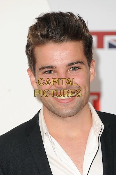 Joe McElderry.The UK Creative Industries Reception supported by The Founders Forum, at the Royal Academy of Arts, London, as part of HM Government's GREAT campaign alongside the very best of the UK Creative Industries from the fields of music, film, art and entertainment..30th July 2012 .headshot portrait black suit white shirt .CAP/BEL.©Tom Belcher/Capital Pictures.