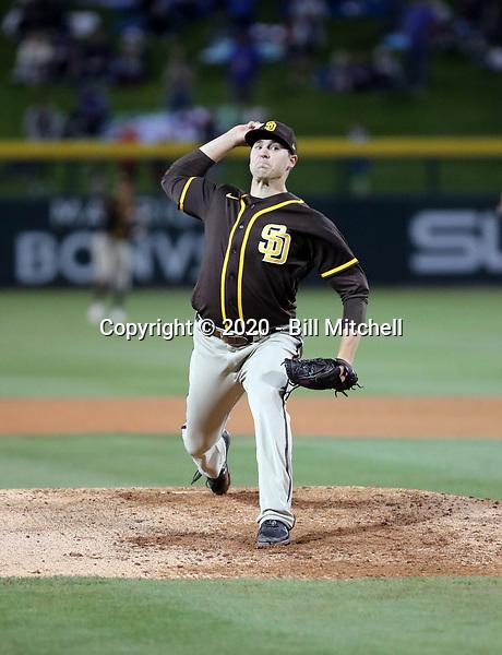 Jerad Eickhoff - San Diego Padres 2020 spring training (Bill Mitchell)
