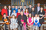 Pupils from Knocknanes NS, Glenflesk who were confirmed by Bishop Bill Murphy in Glenflesk on Monday front row l-r: Gretha Dineen, Gillian Courtney, Abbey Logan, Lauren Burke. Middle row: Elizabeth O'Connor, Ciara Gleeson, Stephen Corsina, Darragh Fleming, Alison Cronin, Sinead White, Sinead O'Connor. Back row: Oran o'Donoghue, Sean Doherty, Denis O'Connor, Oisin Doherty, Aaron O'Sullivan and Denis Doherty Principal....