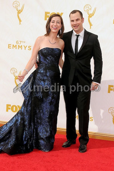 20 September 2015 - Los Angeles, California - Kristen Schaal, Rich Blomquist. 67th Annual Primetime Emmy Awards - Arrivals held at Microsoft Theater. Photo Credit: Byron Purvis/AdMedia