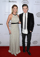 LOS ANGELES, CA, USA - NOVEMBER 08: Katie Peterson, Jesse McCartney arrive at the Unlikely Heroes' 3rd Annual Awards Dinner And Gala held at the Sofitel Hotel on November 8, 2014 in Los Angeles, California, United States. (Photo by Celebrity Monitor)