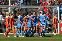 Bridgeview, IL - Saturday May 06, 2017: Chicago Red Starsc during a regular season National Women's Soccer League (NWSL) match between the Chicago Red Stars and the Houston Dash at Toyota Park.