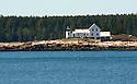 Lighthouse near Schoodic Point Acadia National Park