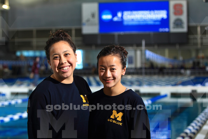 The University of Michigan women's Swimming and Diving Team compete at the 2015 Women's NCAA Swimming and Diving National Championships in Greensboro, NC. March 19-21, 2015