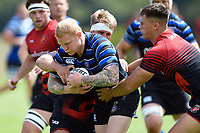 Tom Homer of Bath Rugby in action against the visiting Dragons team. Bath Rugby pre-season training on August 8, 2018 at Farleigh House in Bath, England. Photo by: Patrick Khachfe / Onside Images