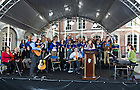Sept. 1, 2012; The Notre Dame Folk Choir performs during the Mass of Thanksgiving at Dublin Castle in Ireland. Photo by Barbara Johnston/University of Notre Dame