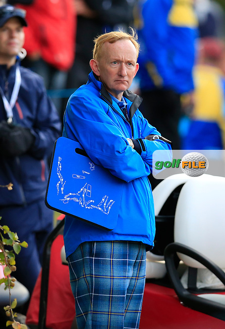 Mike Cantlay the Chairman of Visit Scotland during the Saturday morning Fourballs of the 2014 Ryder Cup at Gleneagles. The 40th Ryder Cup is being played over the PGA Centenary Course at The Gleneagles Hotel, Perthshire from 26th to 28th September 2014.: Picture Eoin Clarke, www.golffile.ie / www.golftouri,ages.com: \27/09/2014\