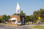 Braum's Milk bottle grocery store and now Vietnamese baggette shop in Oklahoma City, Okla.