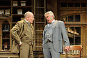 HOBSON's CHOICE, by Harold Brighouse, opens at the Vaudeville theatre in the West End. Directed by Jonathan Church, with lighting design by Tim Mitchell and set & costume design by Simon Higlett. Picture shows: Christopher Timothy (Jim Heeler), Martin Shaw (Henry Horatio Hobson)