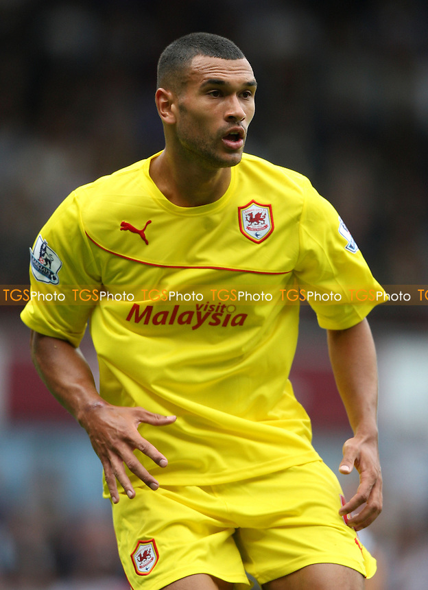 Steven Caulker of Cardiff - West Ham United vs Cardiff City, Barclays Premier League at Upton Park, West Ham - 17/08/13 - MANDATORY CREDIT: Rob Newell/TGSPHOTO - Self billing applies where appropriate - 0845 094 6026 - contact@tgsphoto.co.uk - NO UNPAID USE