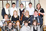 Tralee Chomhaltas group who competed in the Grupa Cheoil at the Killarney Fleadh Cheoil in St Bridgid's school on Sunday front row l-r: Seadhbh O'Donnell, Niamh Dalton, Diarmuid Moriarty, Ciara Horgan. Middle row: Breandan Caball, Niamh Ni? Leathlobhain, Hazel Mooney, Brian O?g Caball. Back row: Rosie Moyles, Sam Kavanagh, Aisling Ni? Mhuircheartaigh, Ciara?n O?'Mhuircheartaigh and Maria O'Connor    Copyright Kerry's Eye 2008