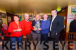 Chris O'Shea, Owen McMahon, Tom McKenna and Councillor John Sheehan present Paddy Byrne with a plaque after finishing second in the Newly Composed Ballad Competition at the Garry McMahon Singing Weekend at The Ramble Inn, Abbeyfeale