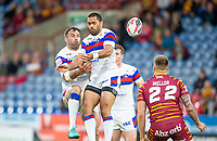 Picture by Allan McKenzie/SWpix.com - 11/05/2018 - Rugby League - Ladbrokes Challenge Cup - Huddersfield Giants v Wakefield Trinity - John Smith's Stadium, Huddersfield, England - Wakefield's Anthony English and Bill Tupou miss the jump ball.
