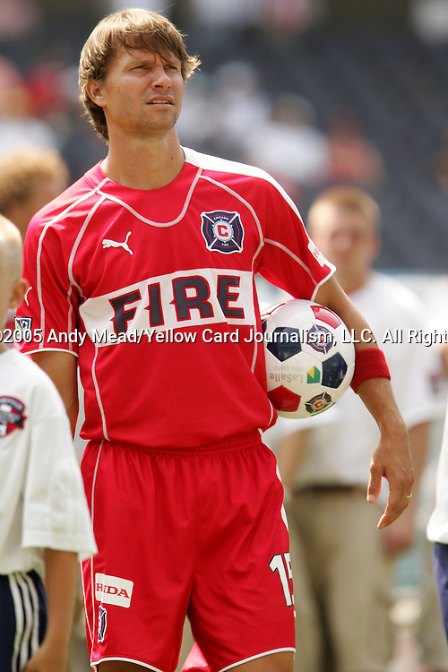16 July 2005: Jesse Marsch. The Chicago Fire and Columbus Crew tied 1-1 at Soldier Field in Chicago, Illinois in a regular season Major League Soccer game.