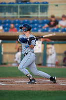 Hudson Valley Renegades Jacson McGowan (34) bats during a NY-Penn League game against the Mahoning Valley Scrappers on July 15, 2019 at Eastwood Field in Niles, Ohio.  Mahoning Valley defeated Hudson Valley 6-5.  (Mike Janes/Four Seam Images)