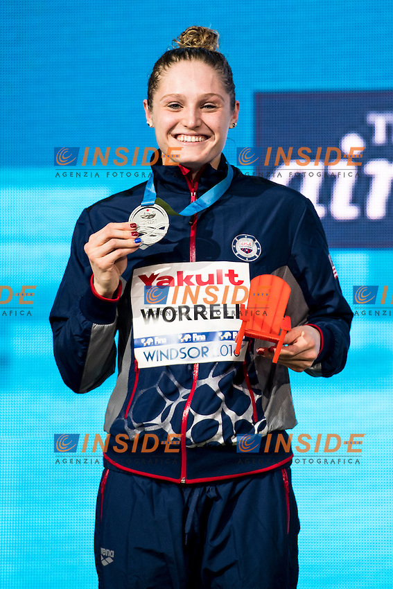 WORRELL Kelsi USA Silver Medal<br /> Women's 200m Butterfly<br /> 13th Fina World Swimming Championships 25m <br /> Windsor  Dec. 7th, 2016 - Day02 Finals<br /> WFCU Centre - Windsor Ontario Canada CAN <br /> 20161207 WFCU Centre - Windsor Ontario Canada CAN <br /> Photo &copy; Giorgio Scala/Deepbluemedia/Insidefoto
