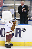 Baldwin, Jerry York - The Boston College Eagles defeated the University of North Dakota Fighting Sioux 6-5 on Thursday, April 6, 2006, in the 2006 Frozen Four afternoon Semi-Final at the Bradley Center in Milwaukee, Wisconsin.