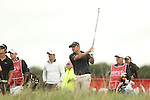 Ryder Cup captain Paul McGinley hits his tee shot on the 7th during the second round of the ISPS Handa Wales Open 2013 at the Celtic Manor Resort<br /> <br /> 30.08.13<br /> <br /> ©Steve Pope-Sportingwales