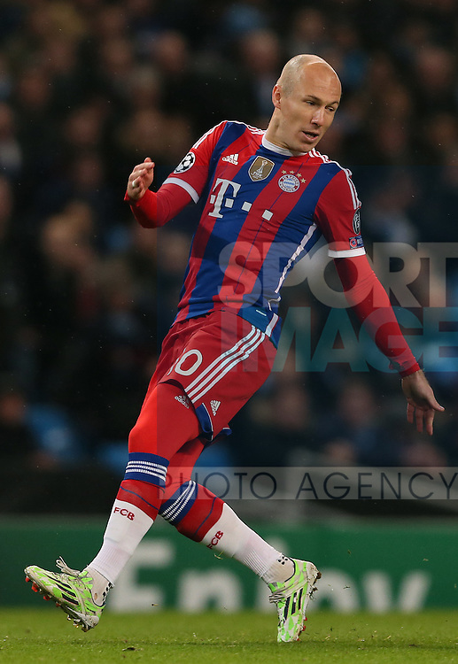 Arjen Robben of Bayern Munich  - UEFA Champions League group E - Manchester City vs Bayern Munich - Etihad Stadium - Manchester - England - 25rd November 2014  - Picture Simon Bellis/Sportimage
