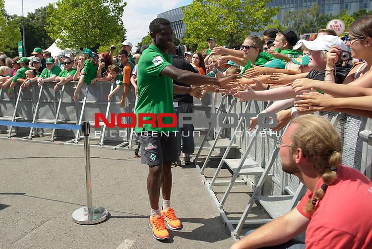 28.07.2013, Weserstadion, Bremen, GER, 1.FBL, Werder Bremen Tag der Fans 2013, im Bild Joseph Akpala (Bremen #19)<br /> <br /> Foto &copy; nph / Frisch