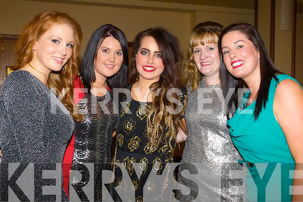 Karen Foley (Keel, Castlemaine) Lisa O'Brien (Keel, Castlemaine) Leona Kane (Keel, Castlemaine) Marie Moriarty (Milltown) and Elaine Griffin (Keel, Castlemaine) pictured at the Sharon Shannon and Shane McGowan concert held in the INEC, Killarney on New Year's Eve.