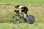 Alex Edmondson (AUS) Mitchelton-Scott in action during Stage 4 of the Paris-Nice 2018 an 18km individual time trial running from La Fouillouse to Saint-Etienne, France. 7th March 2018.<br /> Picture: ASO/Alex Broadway | Cyclefile<br /> <br /> <br /> All photos usage must carry mandatory copyright credit (&copy; Cyclefile | ASO/Alex Broadway)