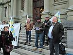 Lausanne, 14.01.2016<br /> Le syndicaliste Hans Oppliger se bat pour faire annuler son licenciement par Edipresse en 2009. Tribunal de Montbenon.<br /> &copy; Mario Togni / Le Courrier
