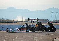 Feb 24, 2019; Chandler, AZ, USA; NHRA top fuel driver Billy Torrence during the Arizona Nationals at Wild Horse Pass Motorsports Park. Mandatory Credit: Mark J. Rebilas-USA TODAY Sports