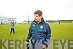 Eamon Fitzmaurice Manager Kerry in action against   Cork IT in the semi final of the McGrath Cup at John Mitchells Grounds on Sunday.