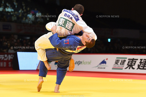(L-R) Victor Penalber (BRA), Avtandili Tchrikishvili (GEO), <br /> DECEMBER 6, 2014 - Judo : <br /> IJF Grand Slam Tokyo 2014 International Judo Tournament <br /> Men's -81kg Bronze <br /> at Tokyo Metropolitan Gymnasium, Tokyo, Japan. <br /> (Photo by AFLO SPORT) [1220]