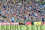 Dean Rock of Dublin kicks a last minute free during the GAA Football All-Ireland Senior Championship Final match between Kerry and Dublin at Croke Park in Dublin on Sunday.