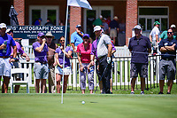 Graeme McDowell (NIR) chips onto 9 and hits the pin during the round 1 of the Dean &amp; Deluca Invitational, at The Colonial, Ft. Worth, Texas, USA. 5/25/2017.<br /> Picture: Golffile | Ken Murray<br /> <br /> <br /> All photo usage must carry mandatory copyright credit (&copy; Golffile | Ken Murray)