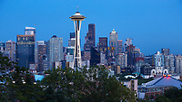 View of the Seattle skyline during the summer of 2016