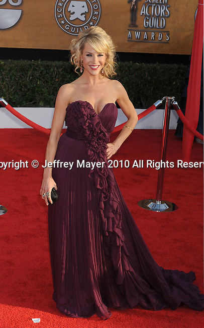 LOS ANGELES, CA. - January 23: Julie Benz arrives at the 16th Annual Screen Actors Guild Awards held at The Shrine Auditorium on January 23, 2010 in Los Angeles, California.