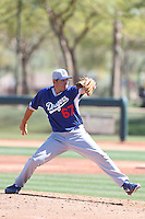 J.D. Underwood #67 of the Los Angeles Dodgers pitches during a Minor League Spring Training Game against the Cleveland Indians at the Los Angeles Dodgers Spring Training Complex on March 22, 2014 in Glendale, Arizona. (Larry Goren/Four Seam Images)