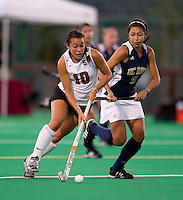 STANFORD, CA - September 3, 2010: Stephanie Byrne (10) during a field hockey match against UC Davis in Stanford, California. Stanford won 3-1.