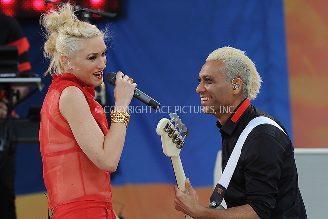 WWW.ACEPIXS.COM . . . . . .July 27, 2012...New York City....Gwen Stefani and Tony Kanal of No Doubt perform on GMA at Rumsey Playfield in Central Park on July 27, 2012 in New York City. ....Please byline: KRISTIN CALLAHAN - WWW.ACEPIXS.COM.. . . . . . ..Ace Pictures, Inc: ..tel: (212) 243 8787 or (646) 769 0430..e-mail: info@acepixs.com..web: http://www.acepixs.com .