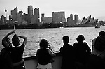 Ferry boat, young lovers Sydney harbour, Australia.