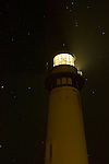 Pigeon Point Lighthouse at night, San Mateo County coast, California
