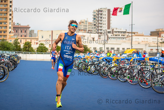 08/05/2016 - Alessandro Fabian (ITA) during the run leg at the Elite Men race, 2016 Cagliari ITU Triathlon World Cup -