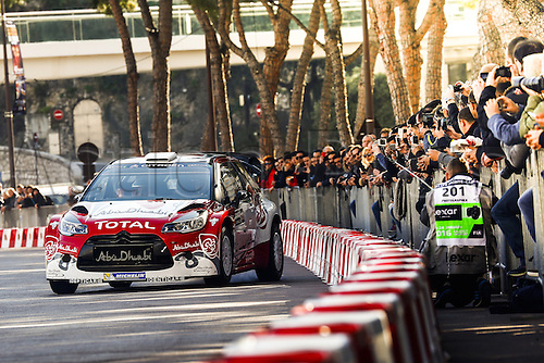 21.01.2016. Monte Carlo, Monaco. The Monte Carlo Rally 2016. The presentation of the cars and drivers in Monaco.  Kris Meeke (GBR) and Paul Nagle (IRE), Abu Dhabi Total World Rally Team