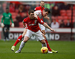John Fleck of Coventry City is tackled by Dean Hammond of Sheffield Utd - English League One - Sheffield Utd vs Coventry City - Bramall Lane Stadium - Sheffield - England - 13th December 2015 - Pic Simon Bellis/Sportimage-