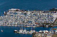 aerial photograph, marina Sausalito, Marin County, California