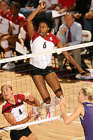 8 October 2005: Franci Girard during Stanford's 3-1 loss to Washington at Maples Pavilion in Stanford, CA.