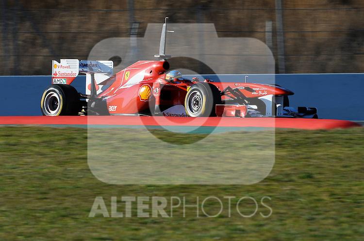 18.02.2011, Circuit de Catalunya, Barcelona, ESP, Formel 1 Test 3 2011,  im Bild Fernando Alonso (ESP),  Scuderia Ferrari Foto © nph / Dieter Mathis